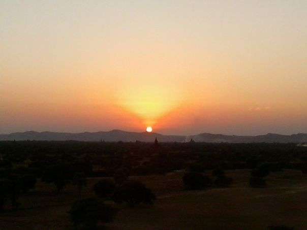 Sunset en Bagan