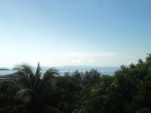 Vistas desde la habitacion en Sihanouk