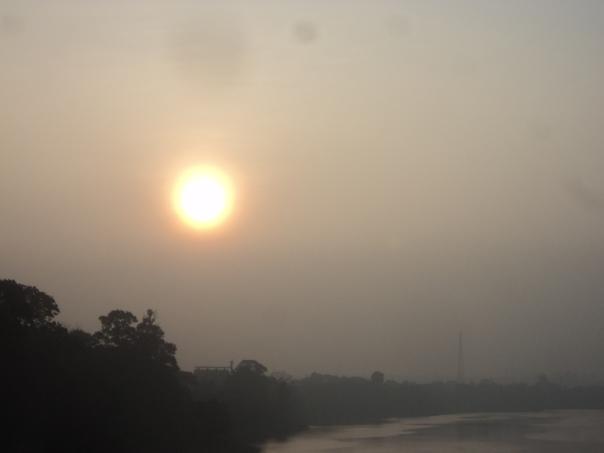 Sunrise en Pakse