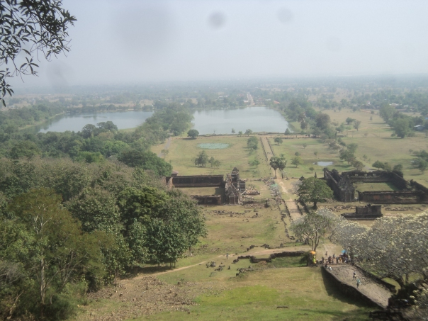 Vista desde el  Templo en Champasak