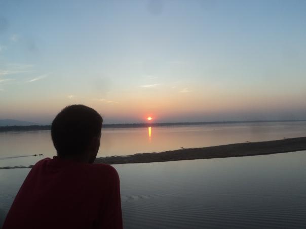 Sunset en Pakse