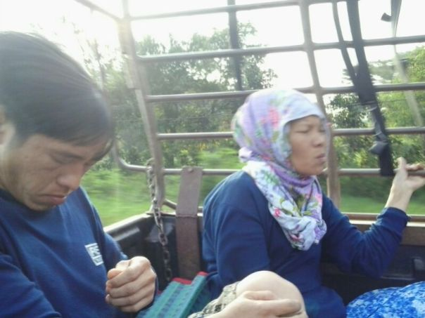 Camino a la frontera de Birmania