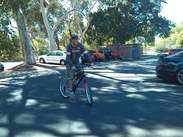 Con la bici por Perth