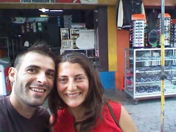 Con Perrine en Yogya