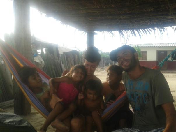 Con Laura y los wuyus en Manague