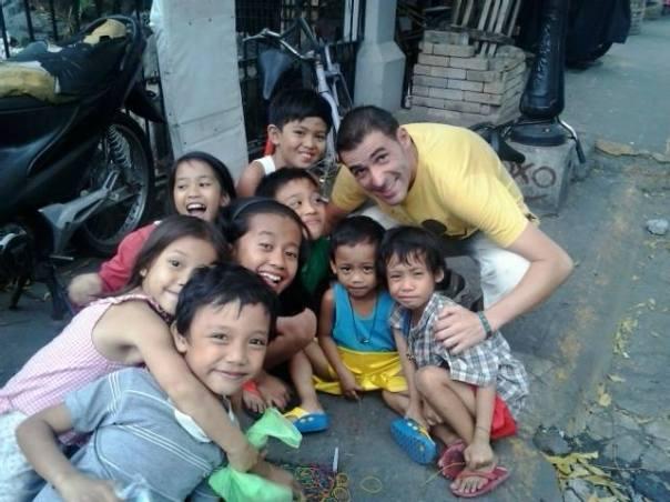 Haciendo amigos en Manila