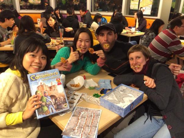 Con Mandy y sus amigas en HK