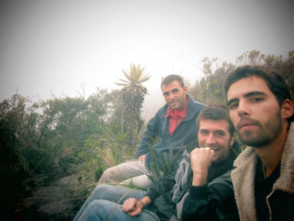 Con Mark y Marc en los 4 000 metros del Nevado