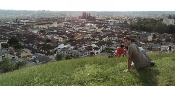 En  el Cerro de Popayan