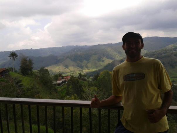 Vista desde el mirador , en Salento