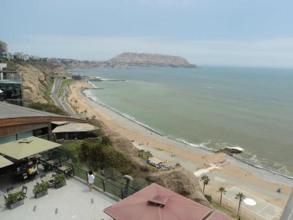 El barrio de Miraflores , en Lima