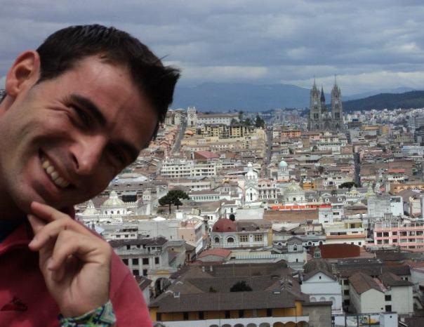 Vista desde el Mirador , en Quito