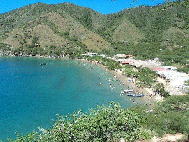 Desde el acantilado en Taganga