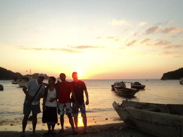 Con Luis , Victor y Dario