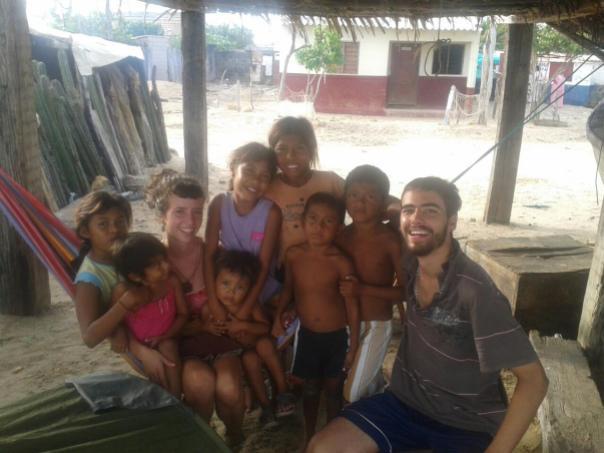 Laura y Mark con los wuyus , en Manague