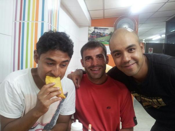 Con Arturo y Jose , incorporando kalorias