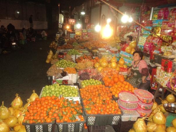 Mercado nocturno en Lizhuo