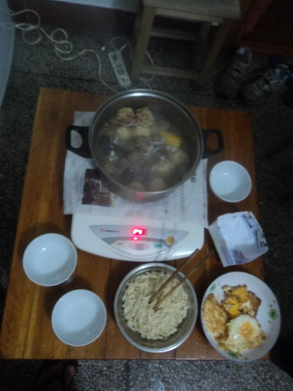 Comida en casa de Ching