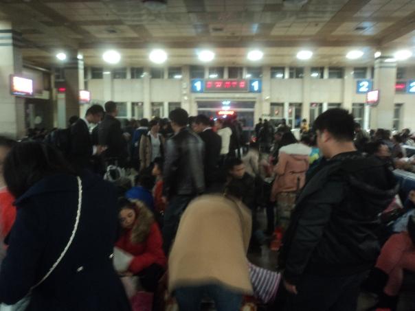 Haciendo fila para el tren