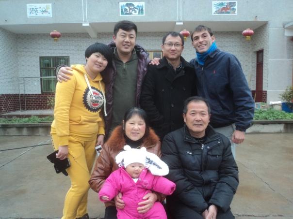 Con mi familia en Changsha