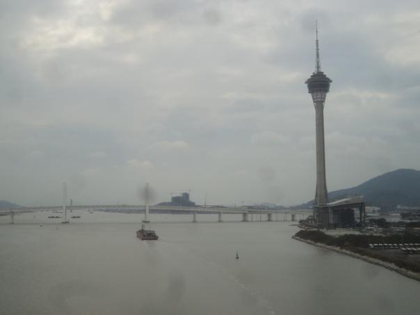 Vista desde el puente en direccion Taipa en Macao