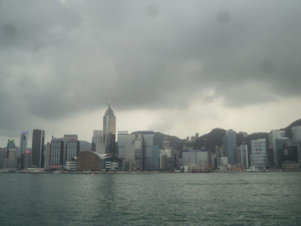 Vista desde el puerto en HK