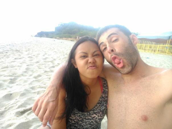 Con Rakel en Puerto Galera