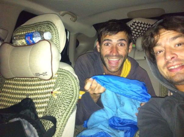 Durmiendo en un coche
