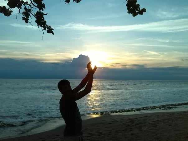 Puesta de sol en Senggigi