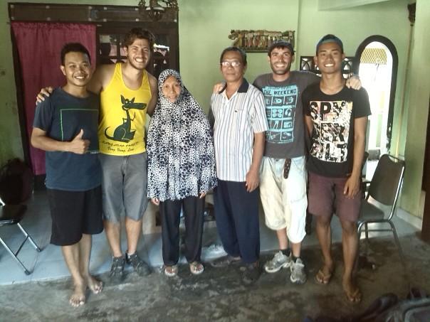 Con Hery y su familia