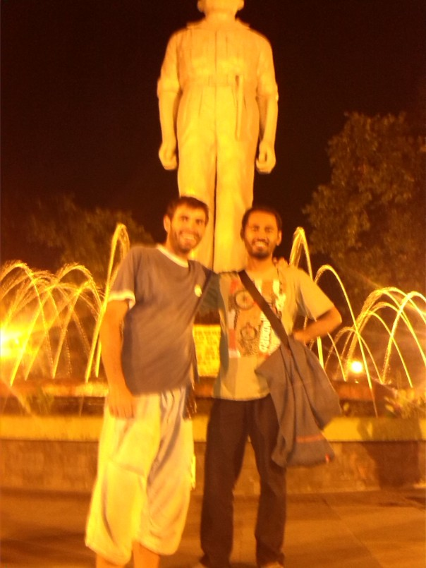 Con Fauzi en Surabaya