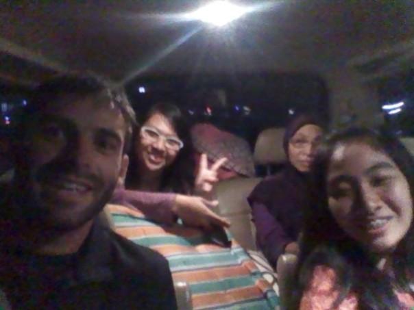 Camino de Machelang con mi familia en Yogya