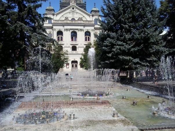 Plaza centrica , en Kosice .