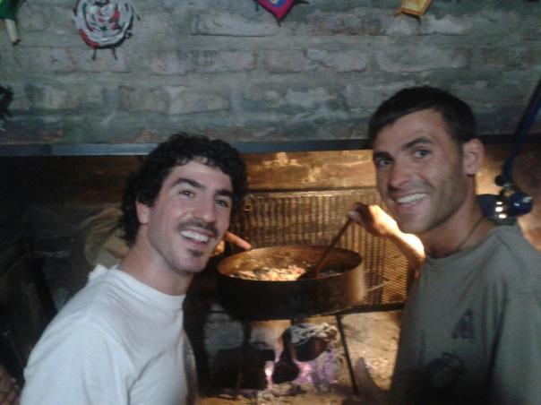 Con Nico , paella al fuego