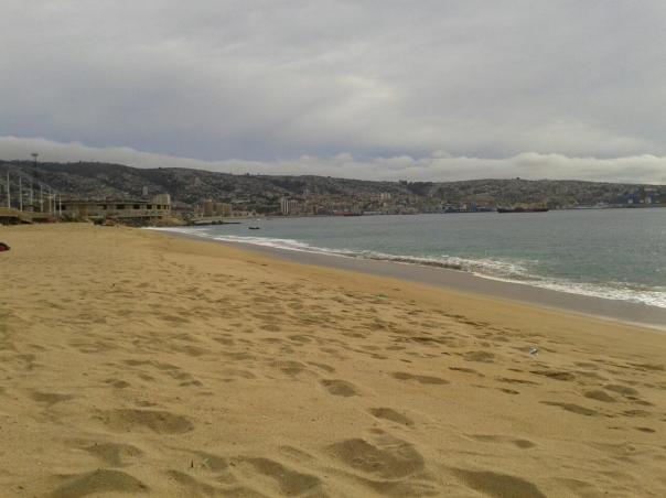 La playa de Valpo