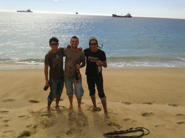 Con Arturo y Jose