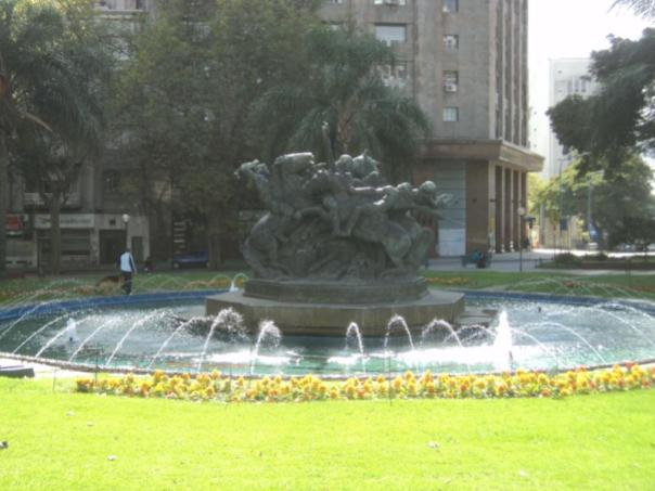 De turismo , en Montevideo .