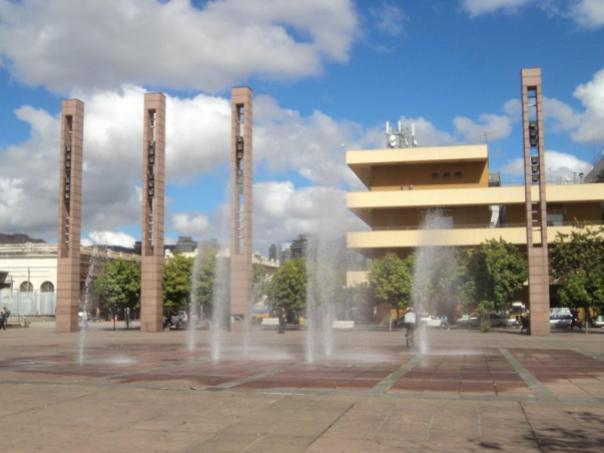Plaza centrica , en Bello Horizonte .