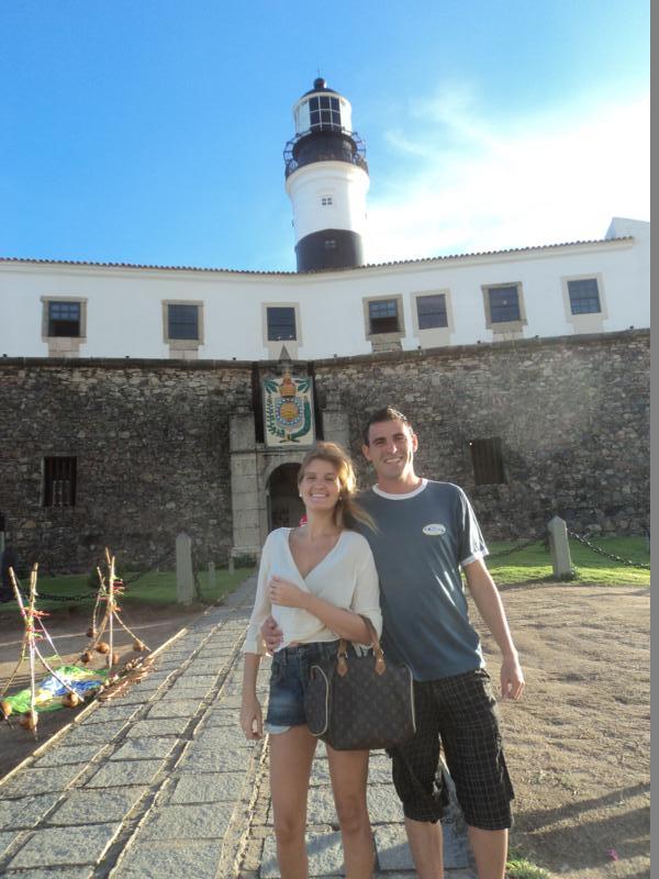 Con Nay , paseando , en Salvador de Bahia .