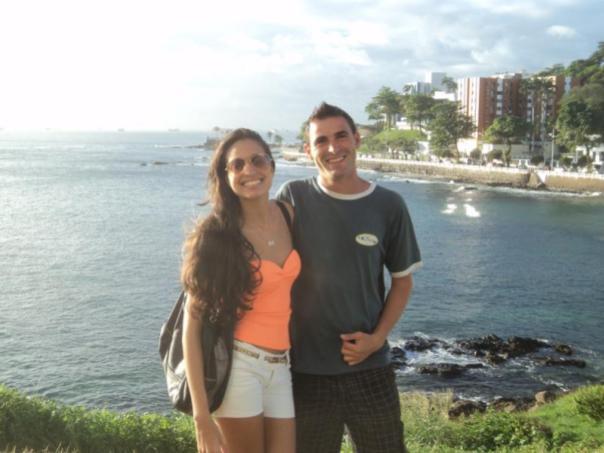 Con Camila , haciendo turismo .