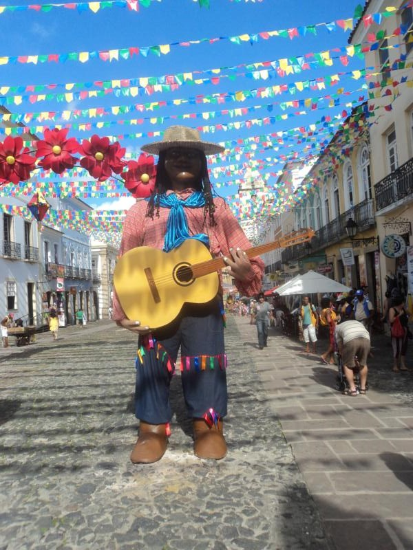 El animado barrio de Pelourinho .