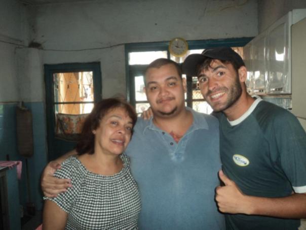 Con Axel y su mama , en Salvador de Bahia .