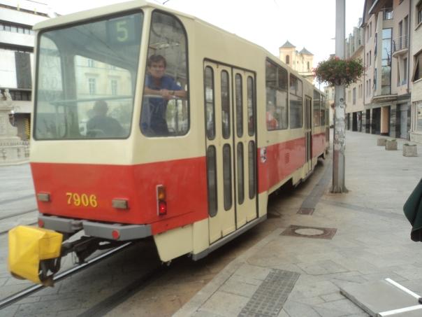 Tranvia , en Bratislava .