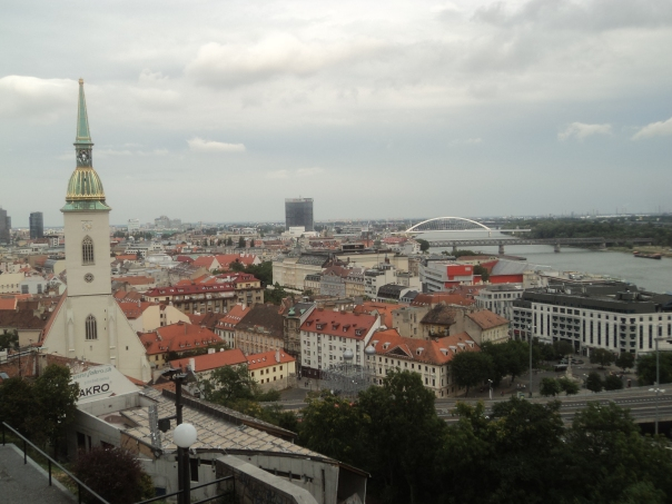 Vistas desde el Castillo , en Bratislava .