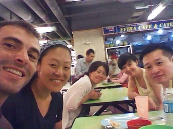 Con Vivien , Michael y mas amigos , en KK