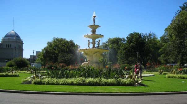 Uno de los muchos parques , en Melbourne .