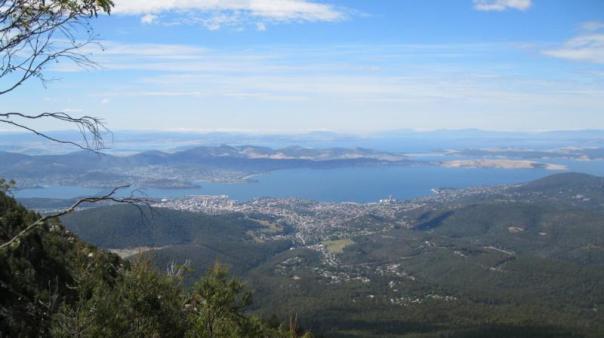 Paisaje maravilloso , desde lo alto del Monte Wellington , en Hobbart .