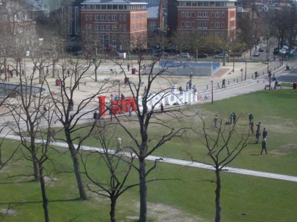 Parque centrico  , en Amsterdam .