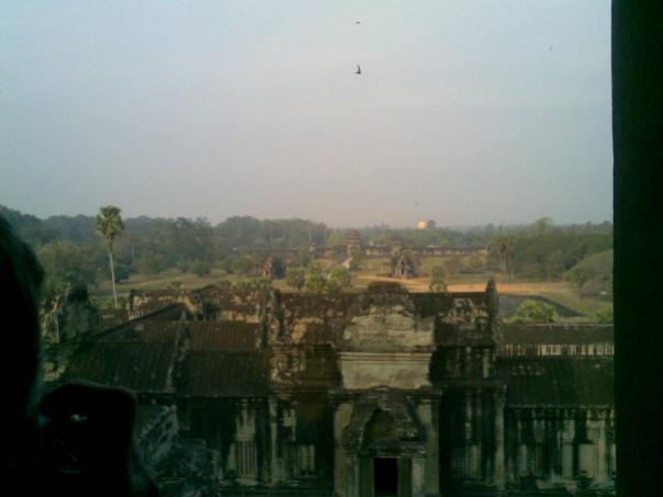 Vistas desde el templo , en Angkor Wat .