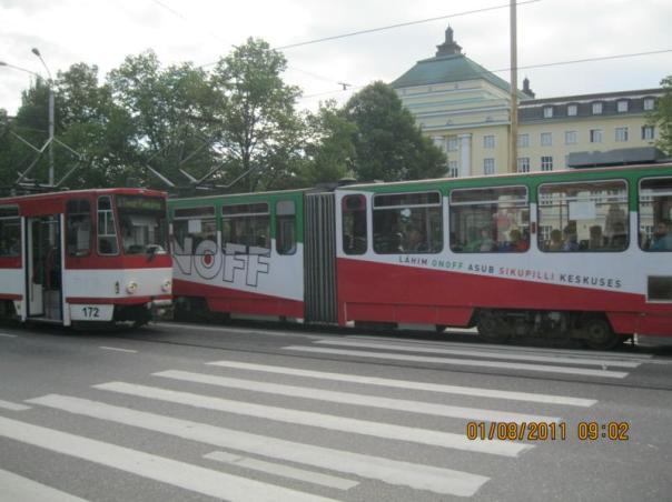 Tranvia , en Tallin .